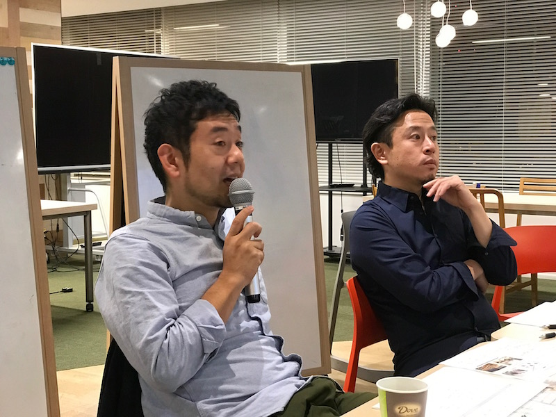 左から:株式会社スピーク共同代表の林 厚見さん、クルミドコーヒー店主の影山 知明さん